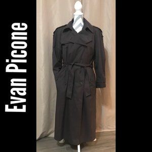 Evan Picone Classic trench coat in brown